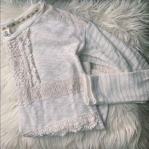 ANTHRO One September Long-Sleeve Crochet Top